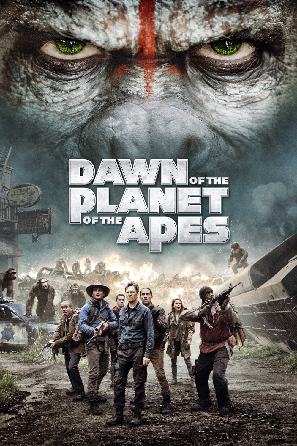 Dawn of the Planet of the Apes 2014 Hindi Dual Audio 720p BluRay 950MB ESubs Download