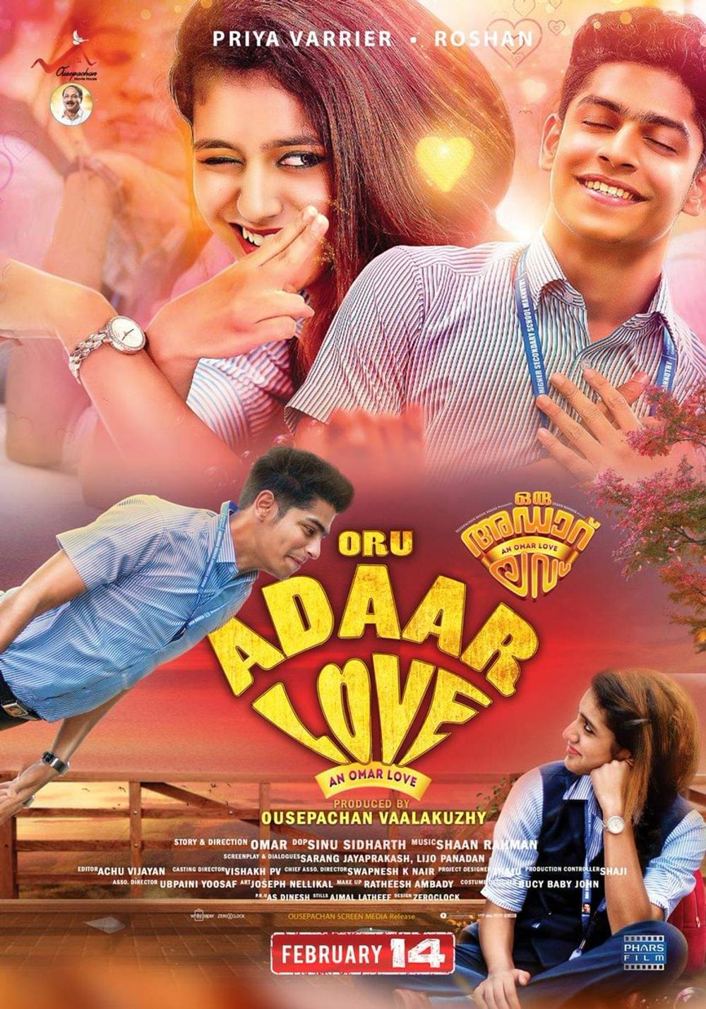 Lovers Day (Oru Adaar Love) 2021 Hindi Dubbed 720p HDRip 1GB Download