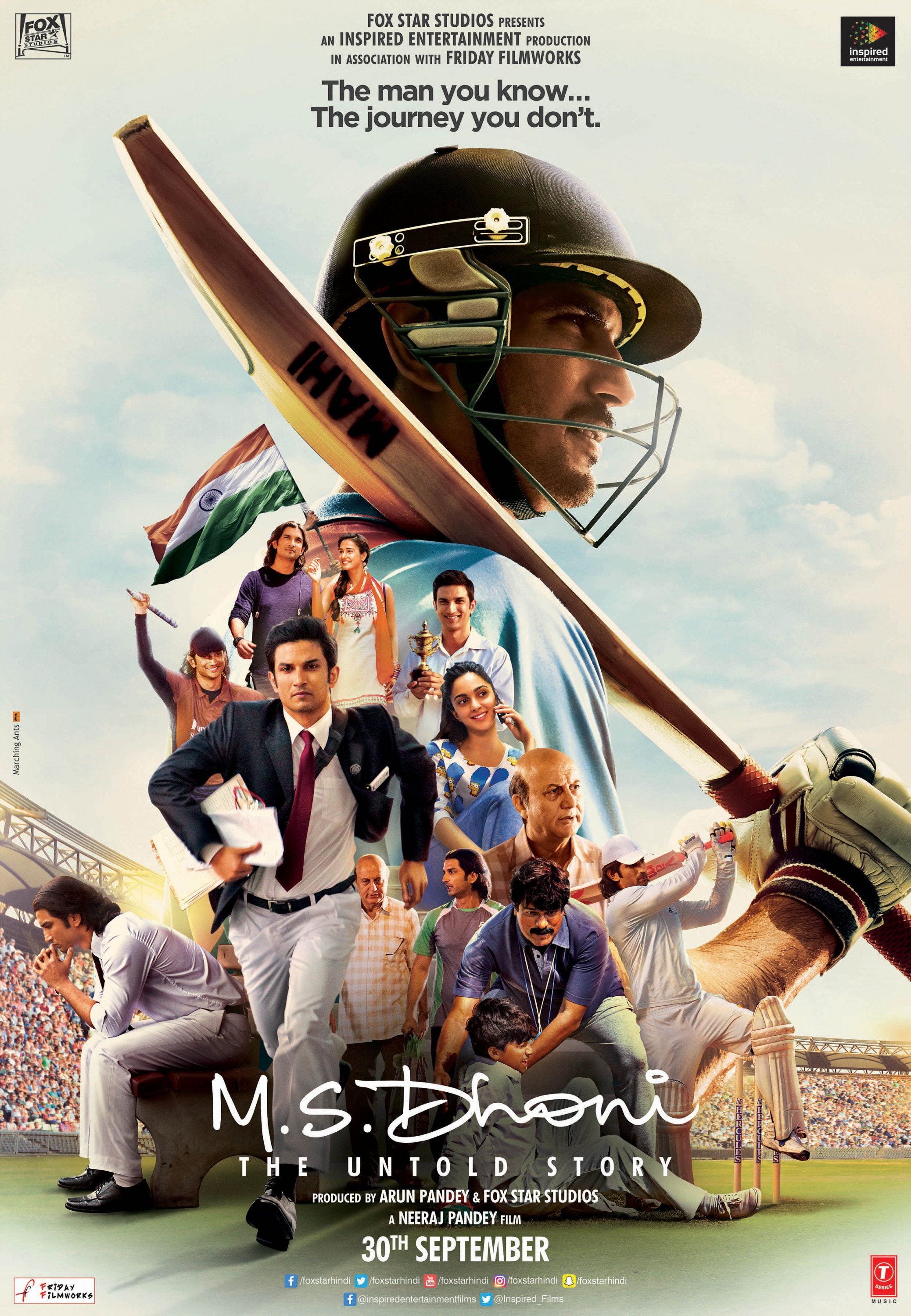 M.S. Dhoni The Untold Story 2016 Hindi 1080p BluRay 2.7GB Download