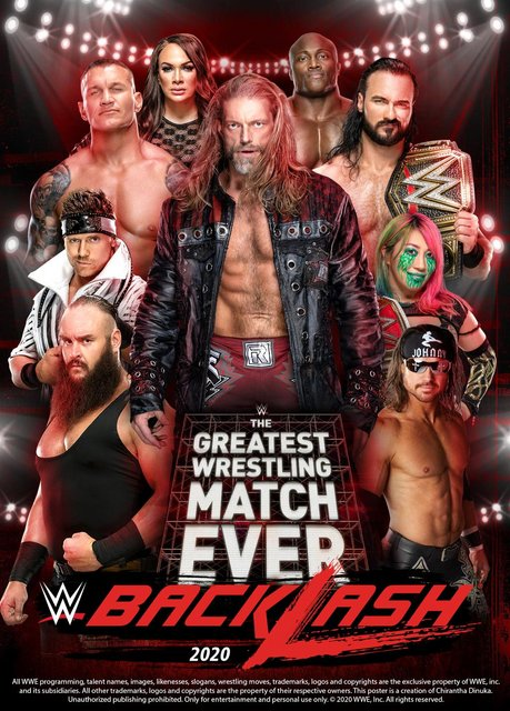 WWE Backlash 2020 English PPV 720p HDRip 1.2GB | 600MB Download