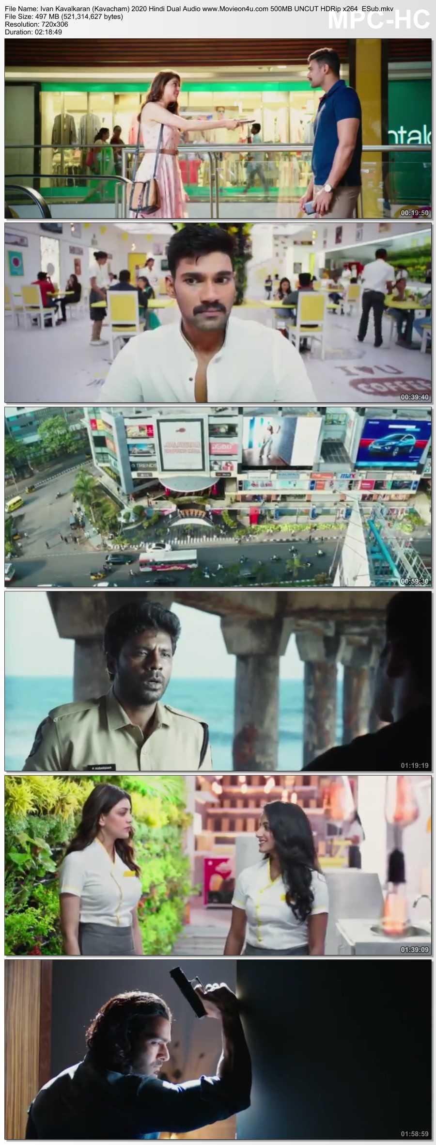 Ivan Kavalkaran (Kavacham) 2020 Hindi Dual Audio 500MB UNCUT HDRip x264 ESub 480p Download HD