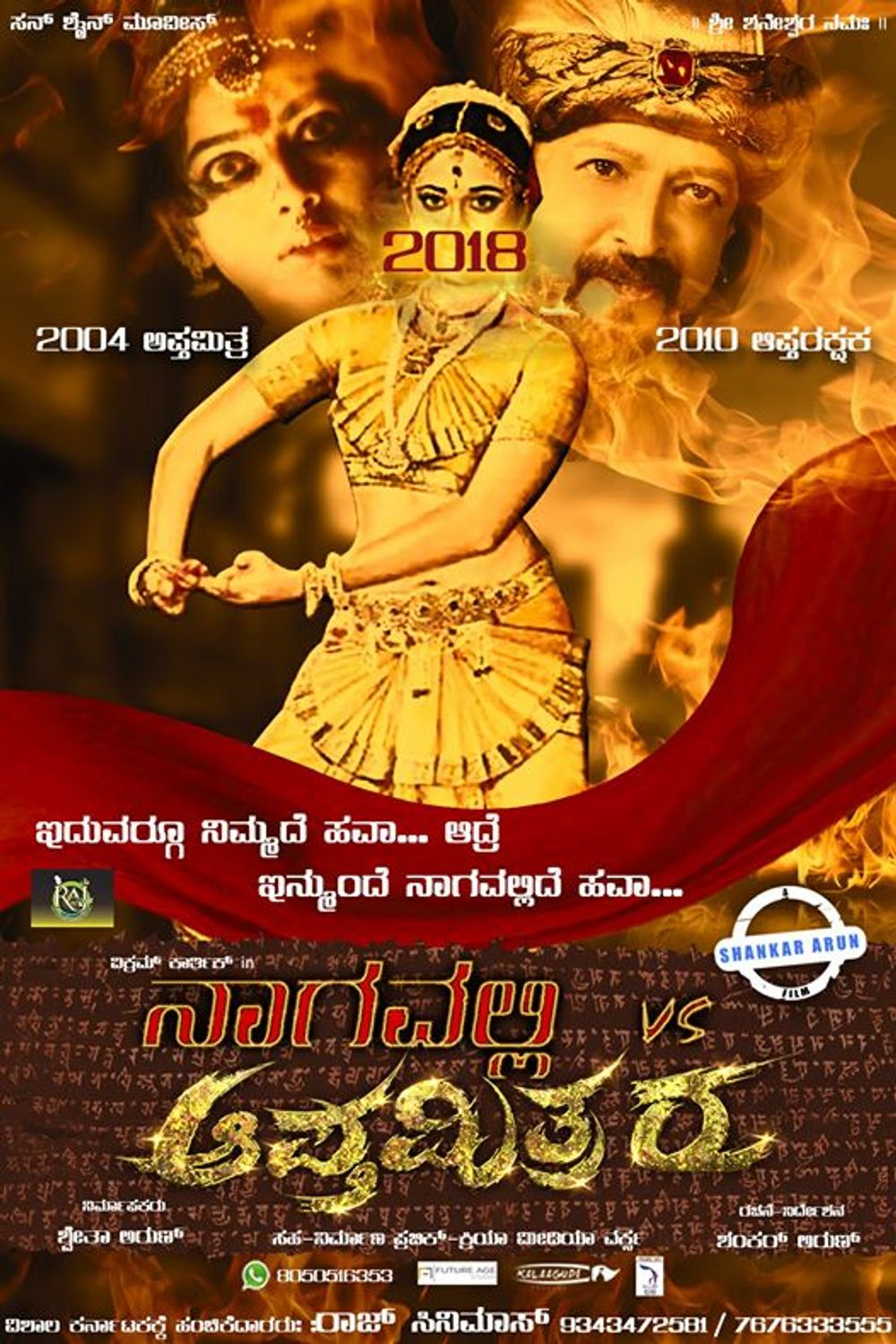 Nagavalli Vs Apthamithraru 2020 Hindi Dubbed 720p HDRip 735MB Download