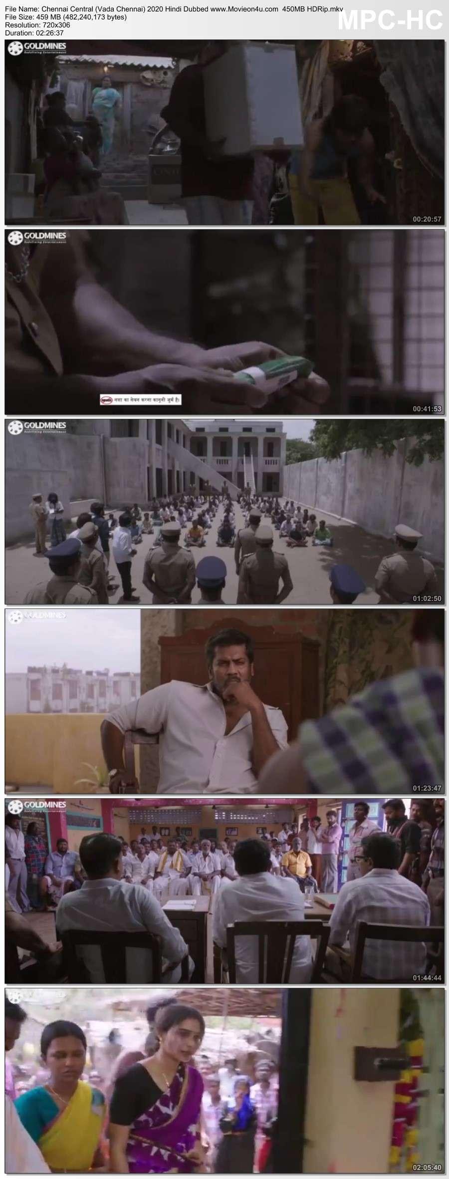Chennai Central (Vada Chennai) 2020 Hindi Dubbed 450 HDRip x264 480p Download HD