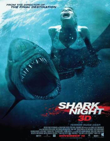 Shark Night 3D 2011 Dual Audio Hindi ORG 350MB BluRay x264 480p