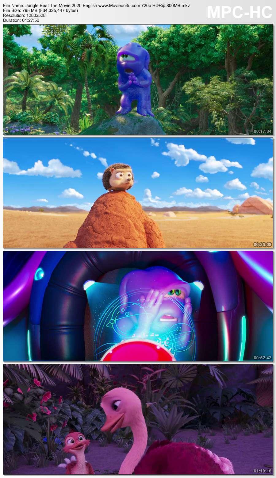 Jungle Beat: The Movie 2020 English 720p HDRip x264 800MB Download HD