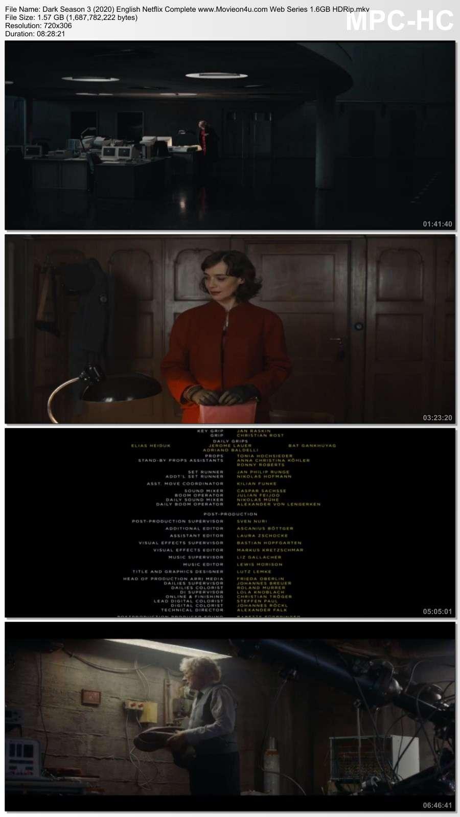 Dark Season 3 (2020) English Netflix Complete Web Series 1.6GB HDRip x264 480p Download HD