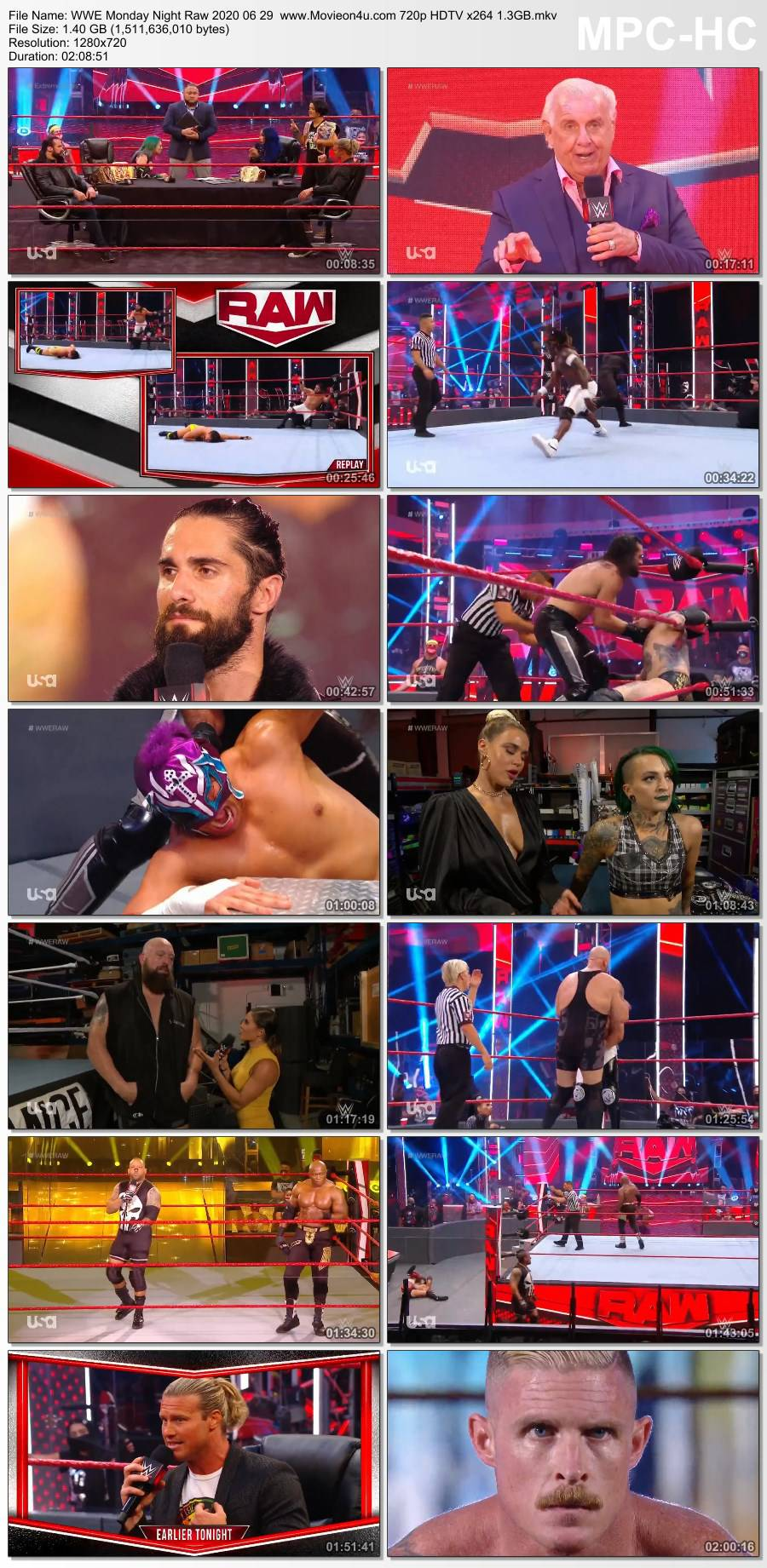 WWE Monday Night Raw 2020 06 29 720p HDTV x264 1.3GB Download HD