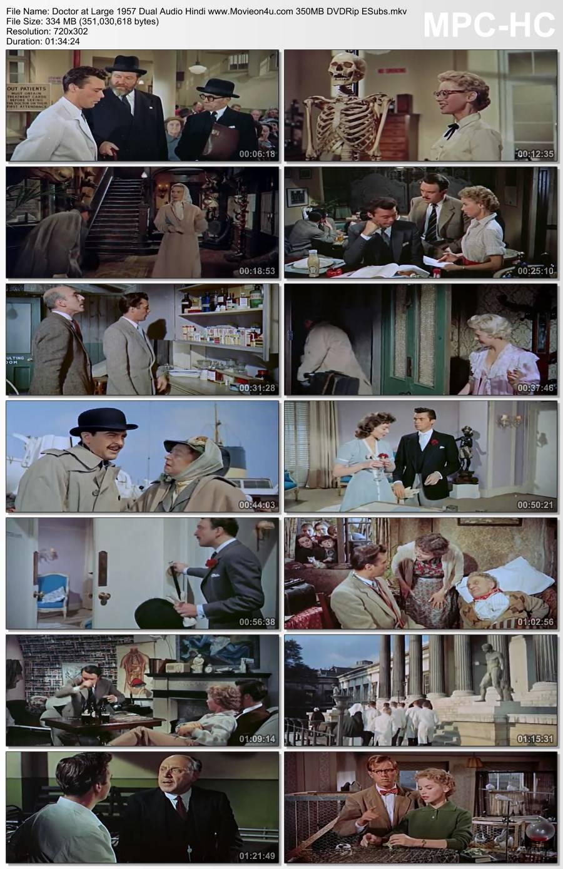 Doctor at Large 1957 Dual Audio Hindi 300MB DVDRip ESubs 480p Download HD