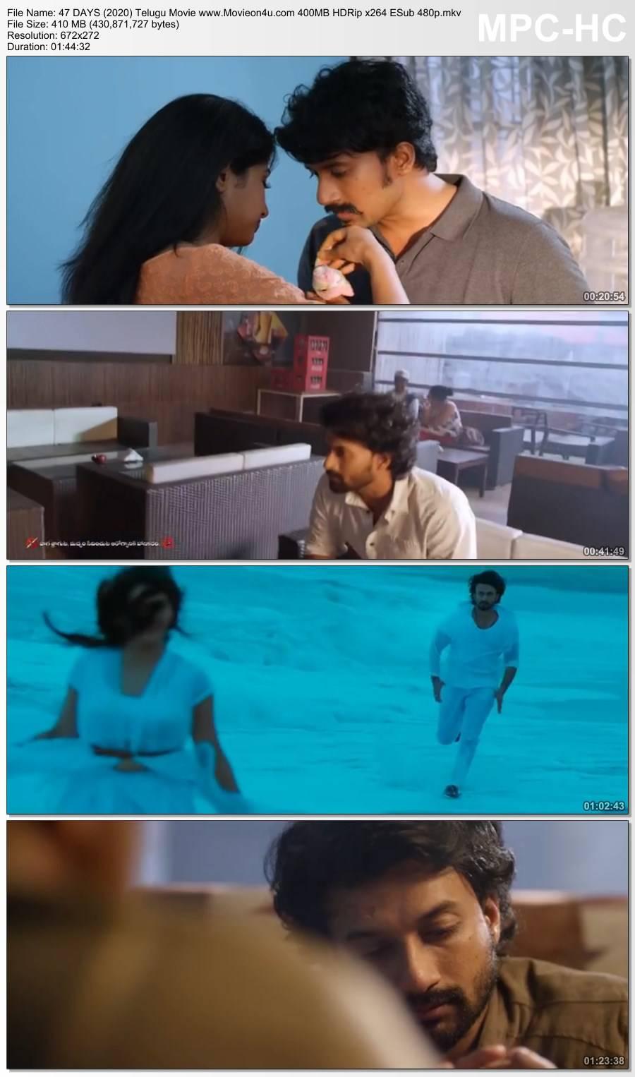 47 DAYS (2020) Telugu Movie 400MB HDRip x264 ESub 480p Download HD