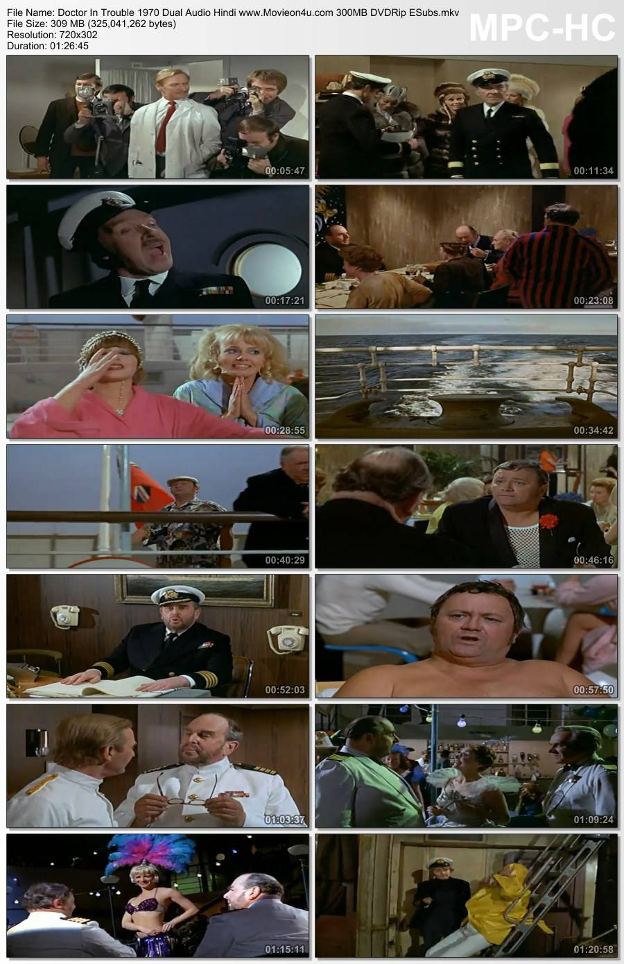 Doctor In Trouble 1970 Dual Audio Hindi 300MB DVDRip ESubs 480p Download HD