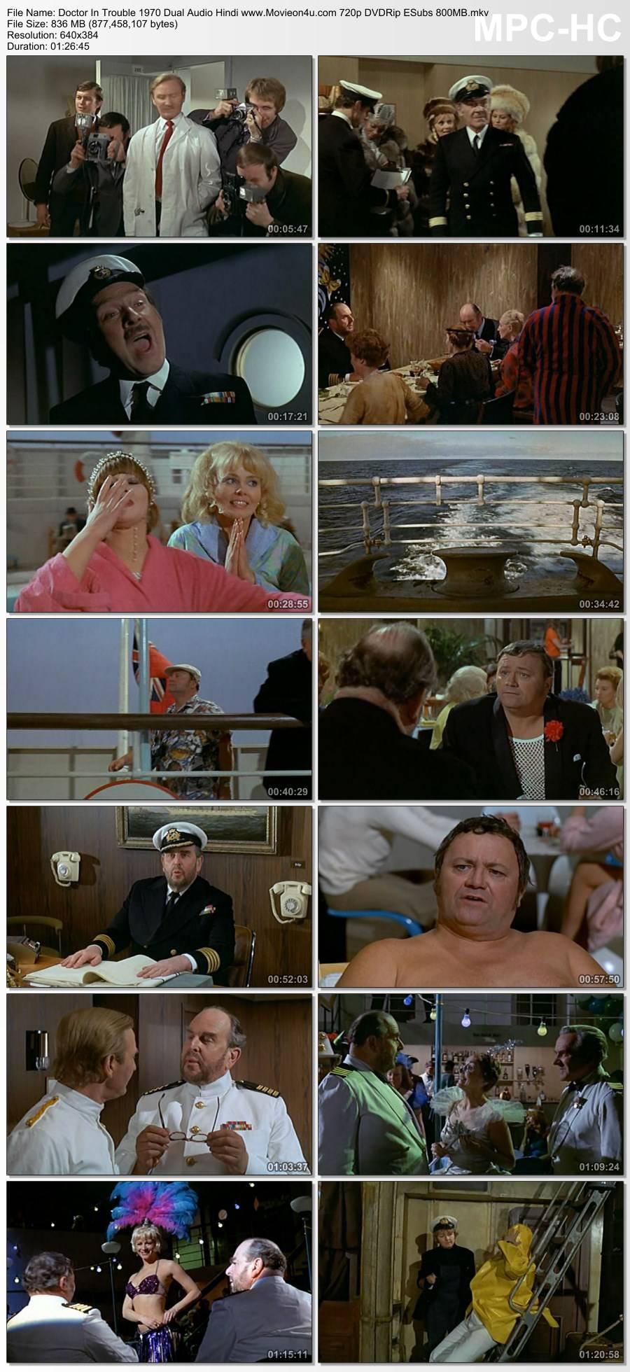 Doctor In Trouble 1970 Dual Audio Hindi 720p DVDRip ESubs 800MB Download HD