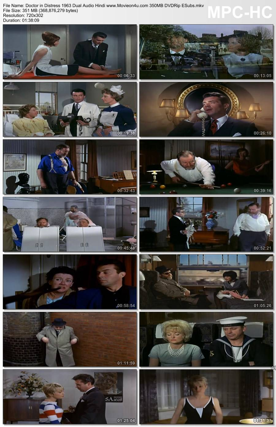 Doctor in Distress 1963 Dual Audio Hindi 350MB DVDRip ESubs 480p Download HD