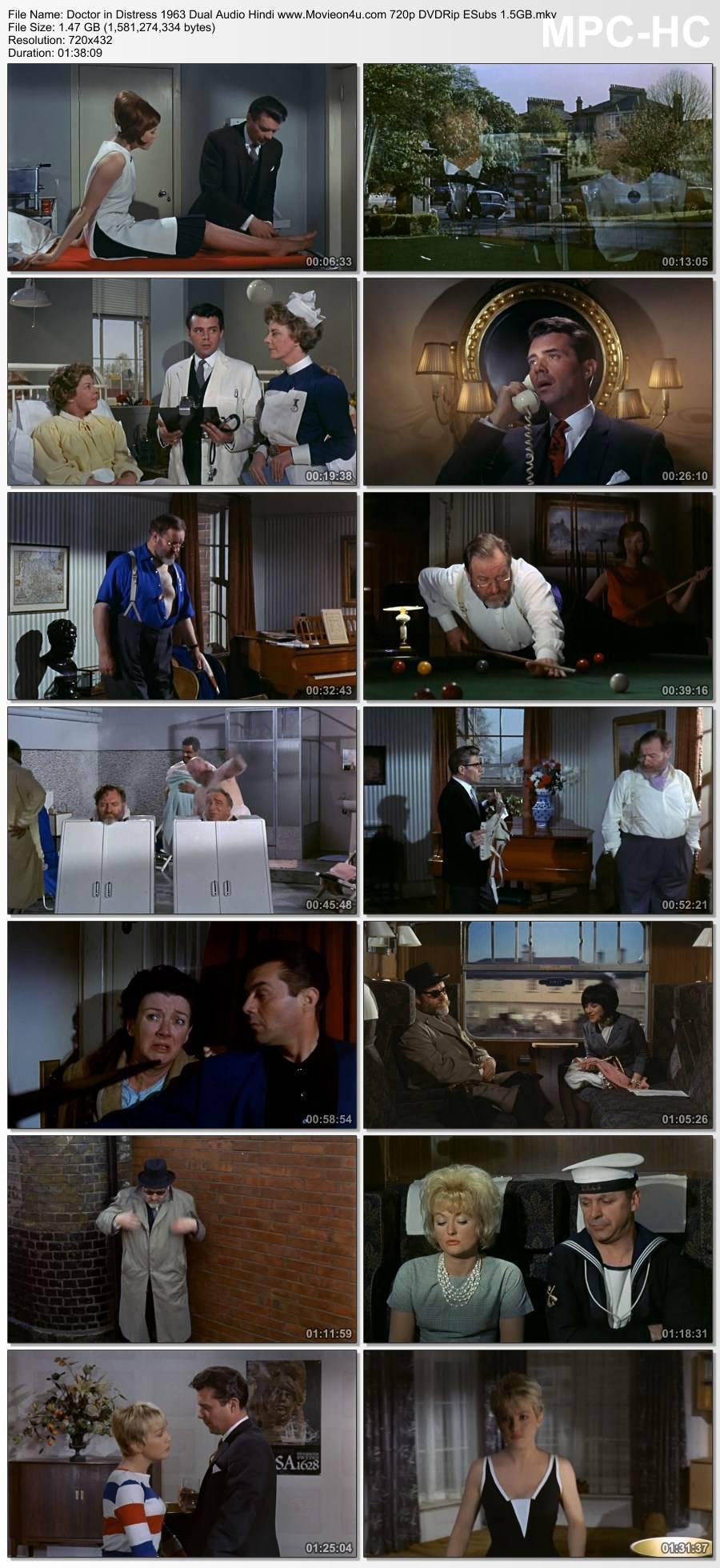 Doctor in Distress 1963 Dual Audio Hindi 720p DVDRip ESubs 1.5GB Download HD
