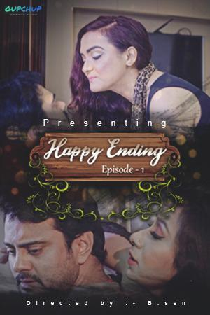 18+ Happy Ending 2020 Hindi S01E01 Gupchup Web Series 720p HDRip 180MB x264 AAC