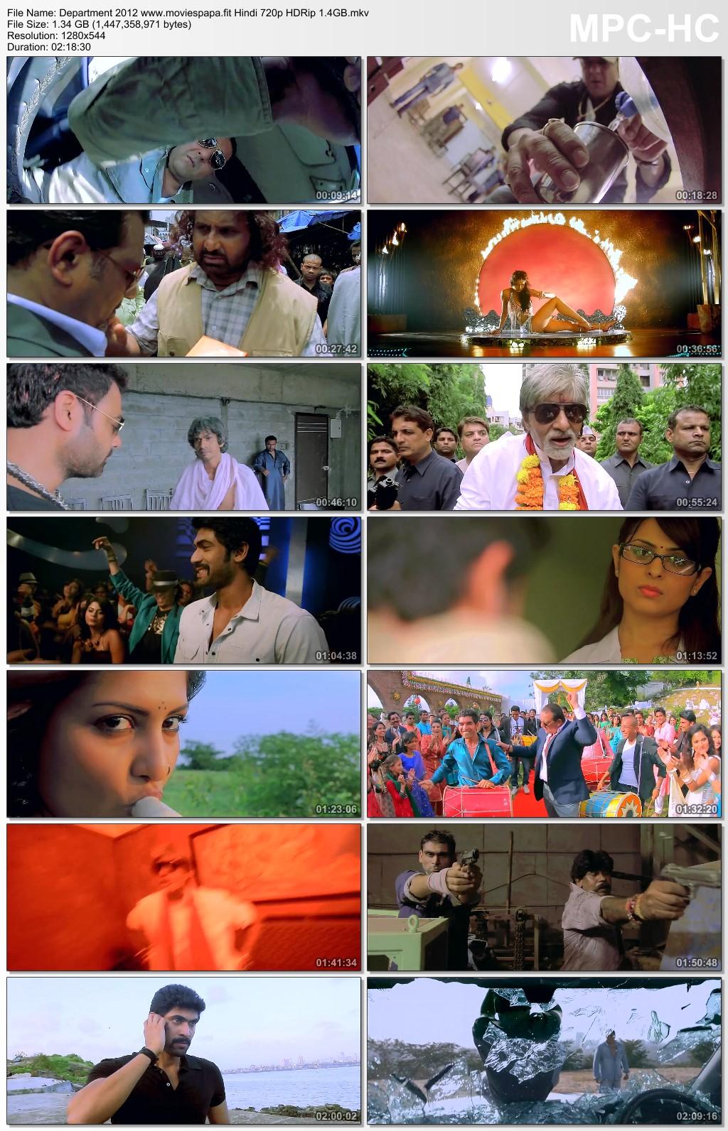 Department 2012 Hindi Movie 720p HDRip 1.3GB Download
