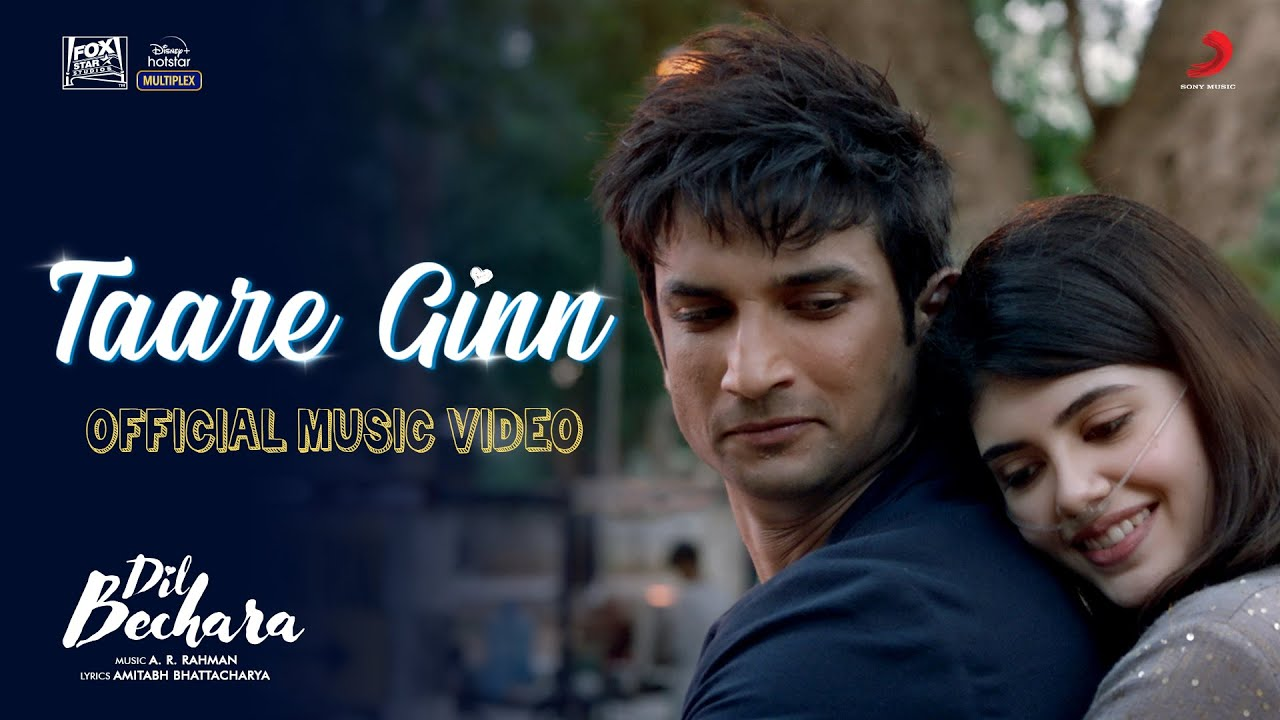 Taare Ginn (Dil Bechara 2020) Hindi Movie Video Song 1080p HDRip 25MB Download