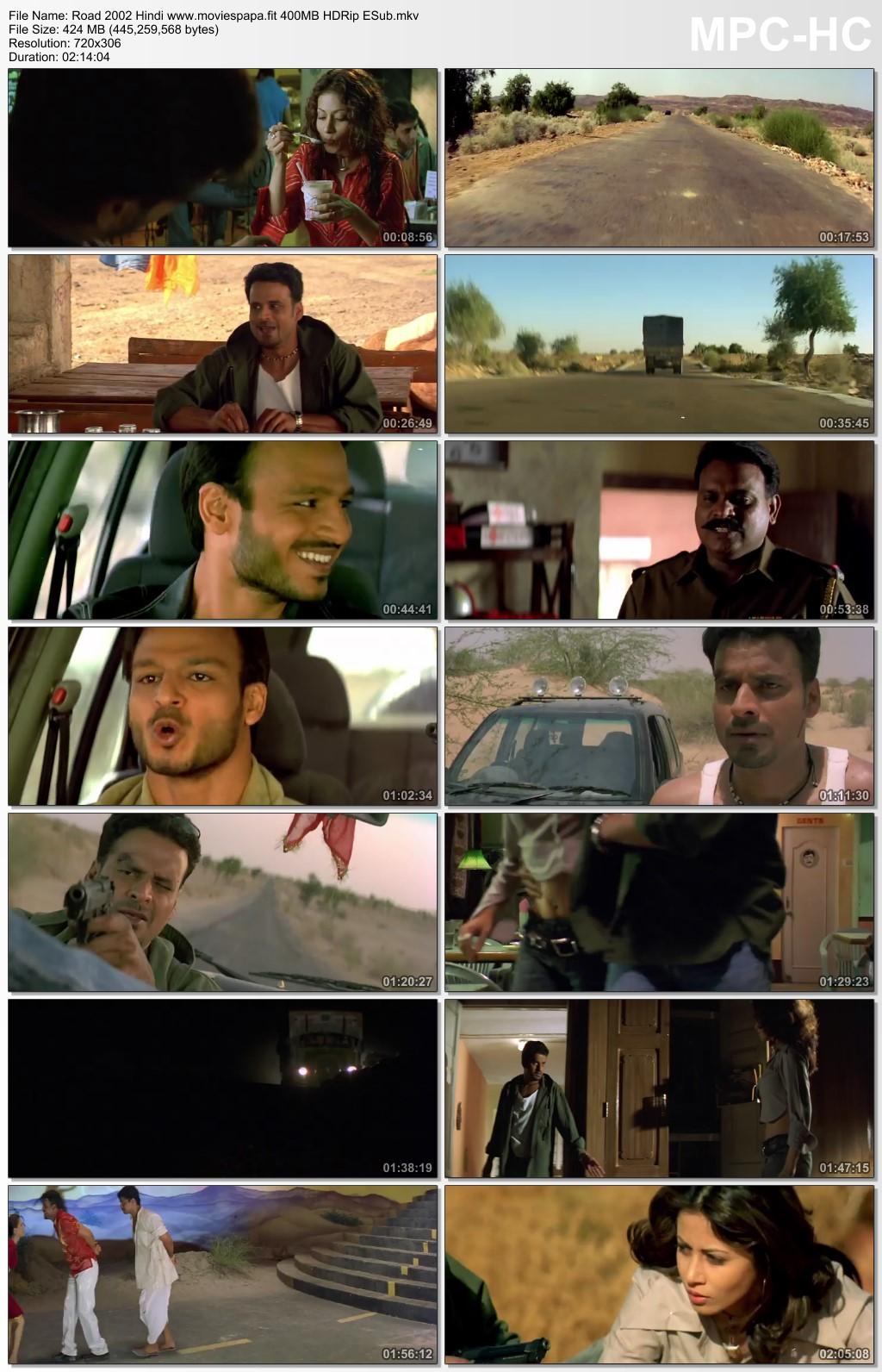 Road 2002 Hindi Movie 450MB HDRip ESub Download