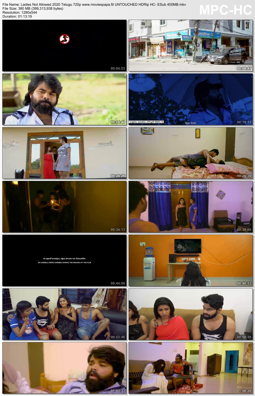 Ladies Not Allowed 2020 Telugu 720p UNTOUCHED HDRip HC- ESub 390MB Download