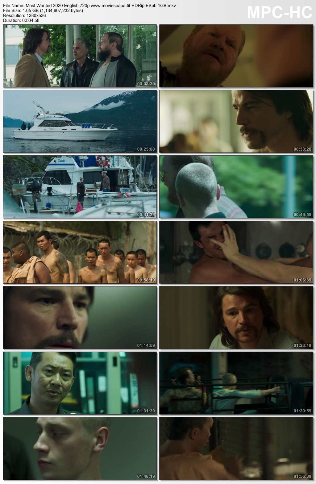 Most Wanted 2020 English Movie 720p HDRip ESub 1.1GB Download