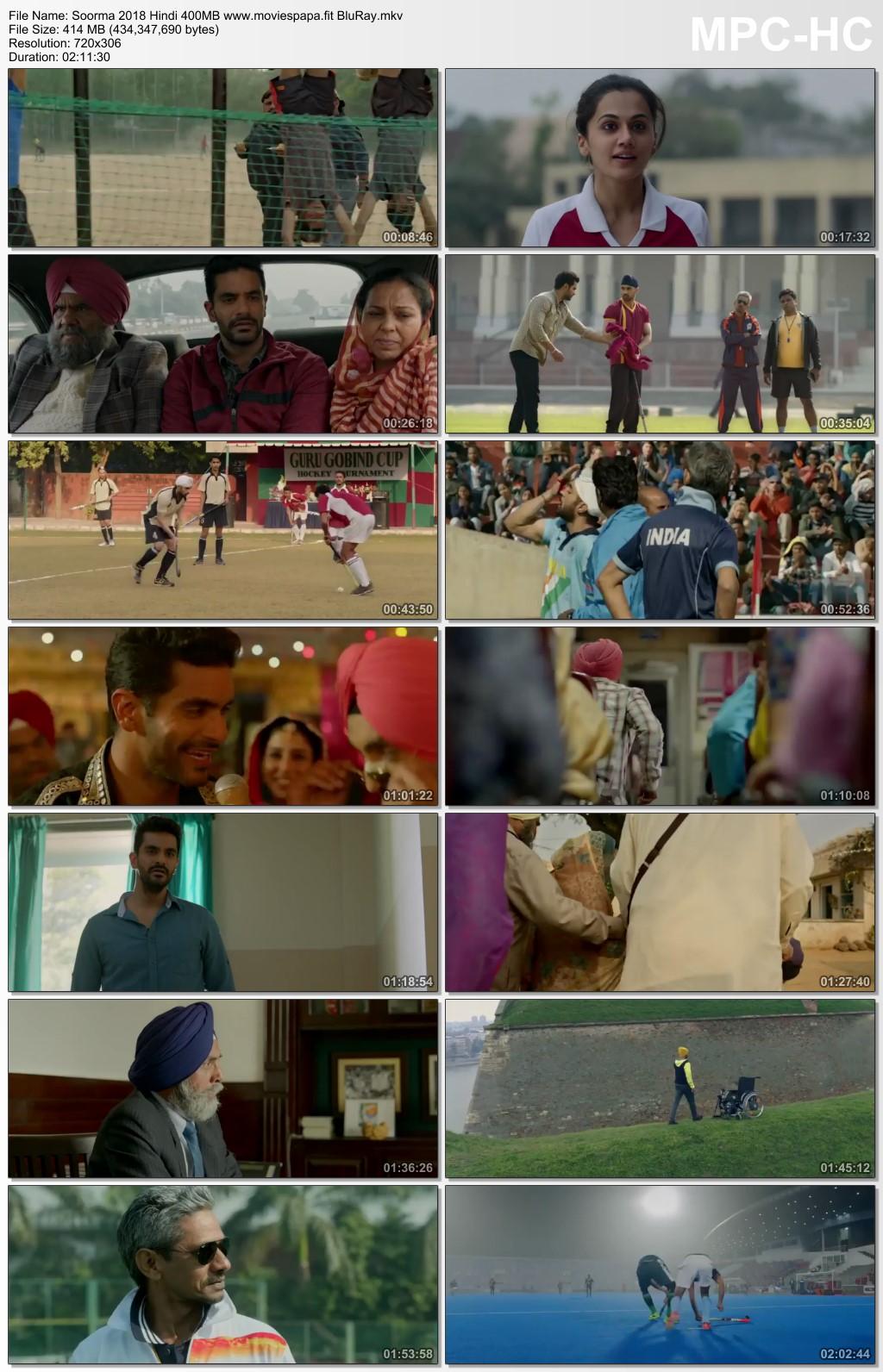 Soorma 2018 Hindi Movie 450MB BluRay Download