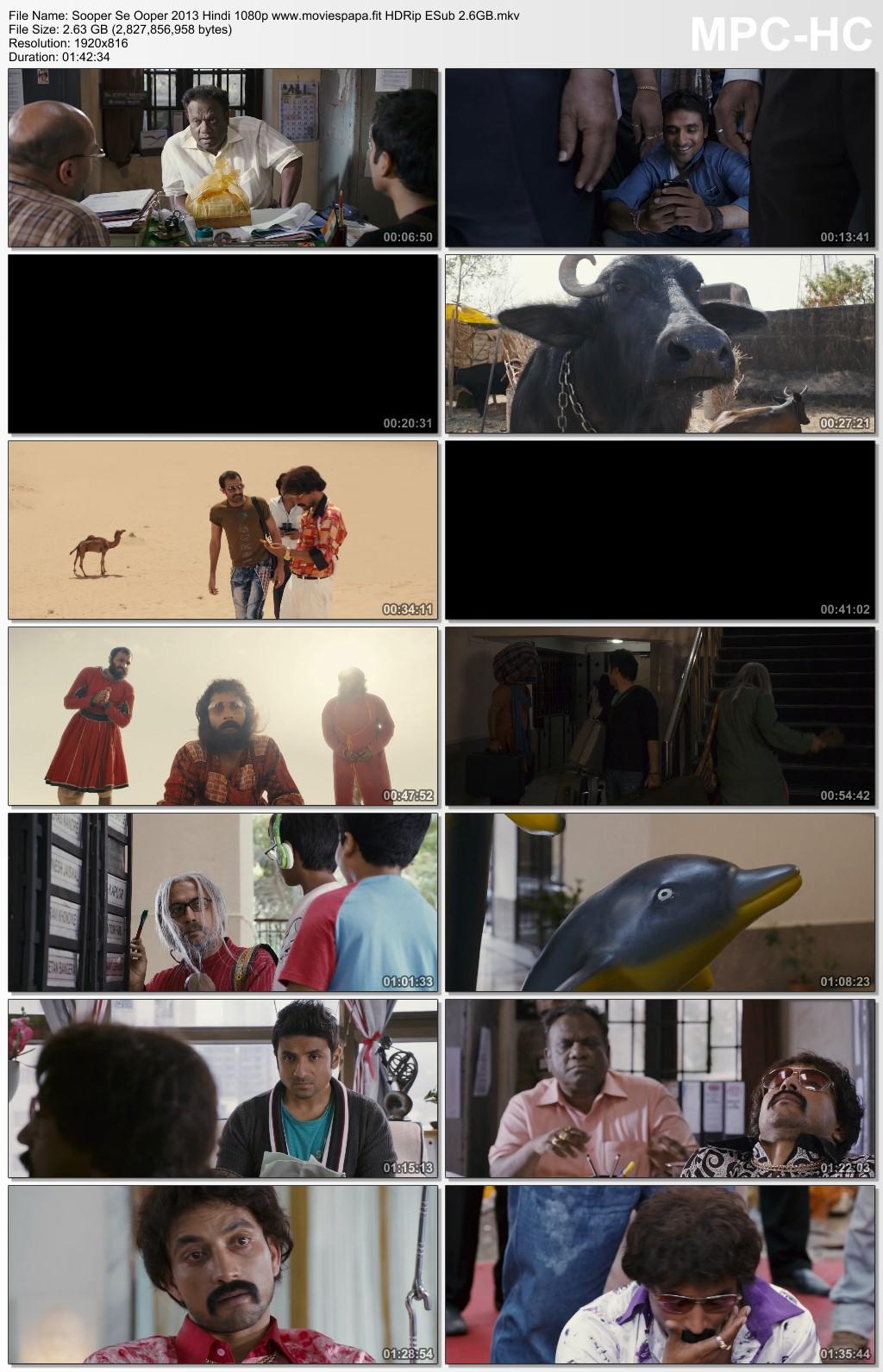 Sooper Se Ooper 2013 Hindi Movie 1080p HDRip ESub 2.7GB Download