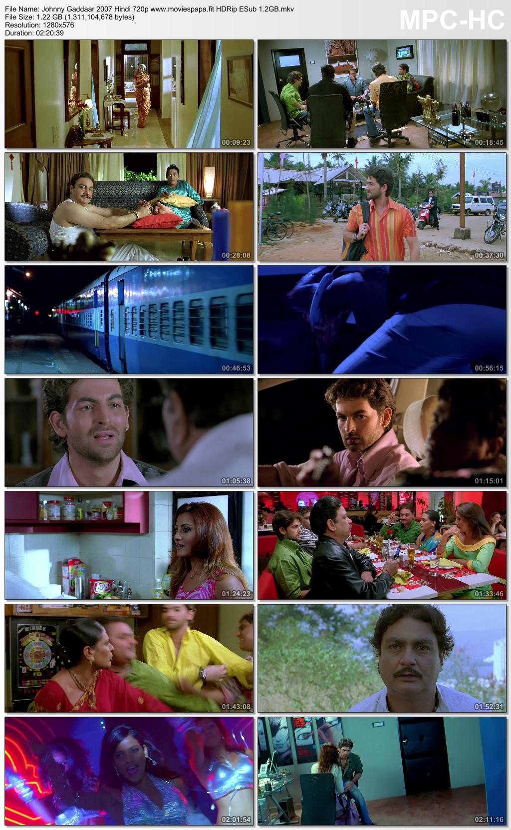 Johnny Gaddaar 2007 Hindi Movie 720p HDRip ESub 1.3GB Download