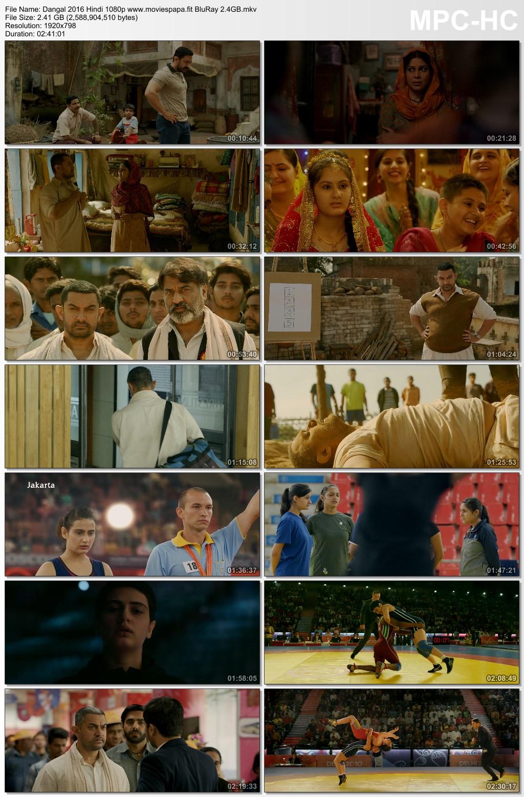 Dangal 2016 Hindi Movie 1080p BluRay 2.5GB Download