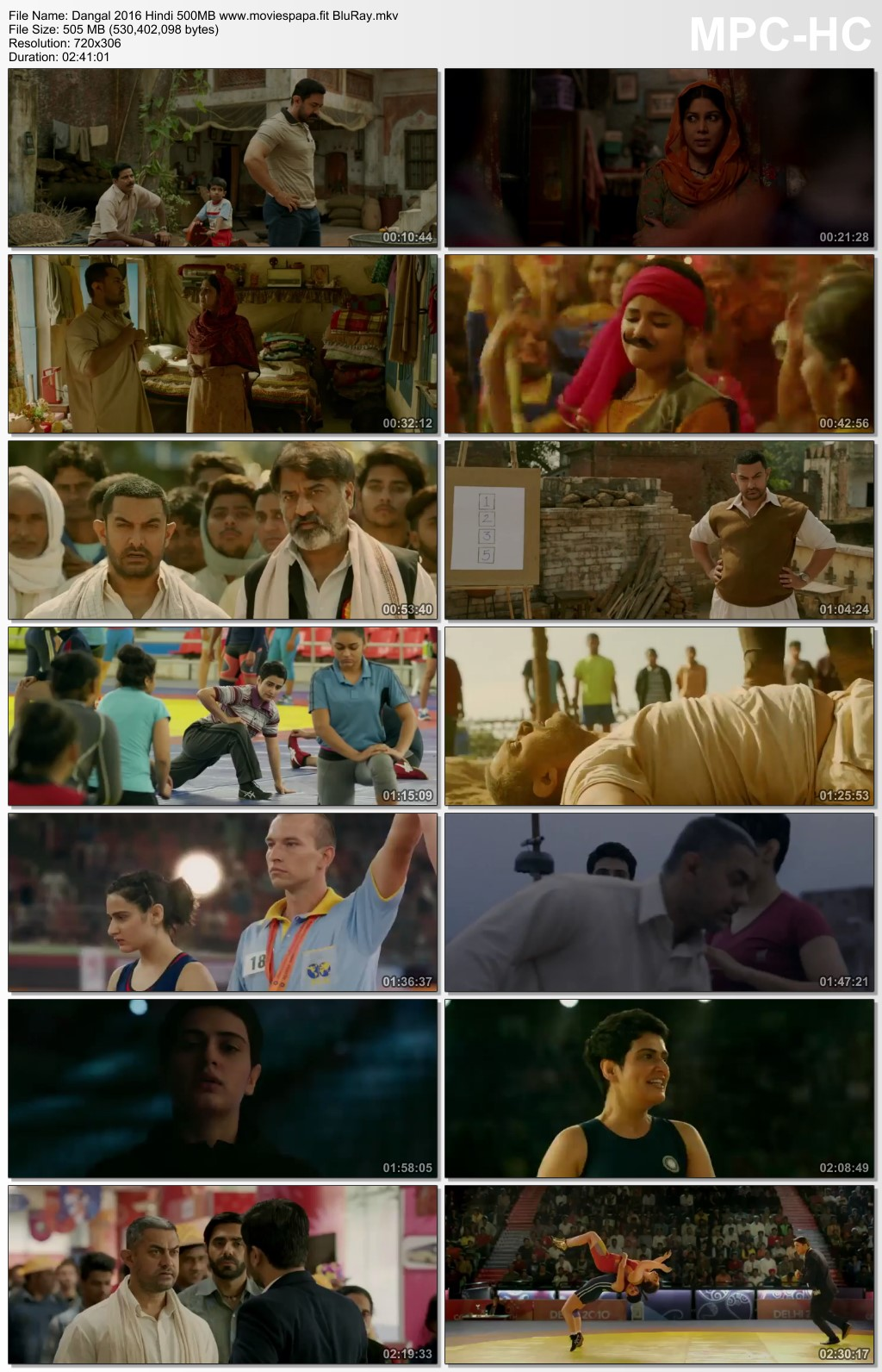 Dangal 2016 Hindi Movie 510MB BluRay Download