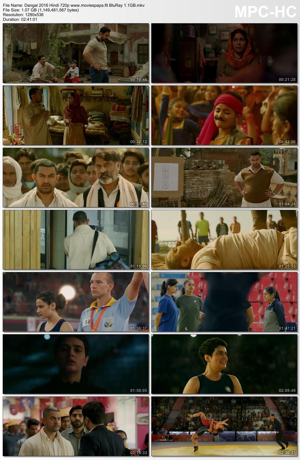 Dangal 2016 Hindi Movie 720p BluRay 1.2GB Download