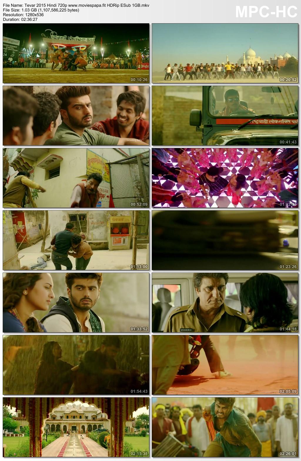 Tevar 2015 Hindi Movie 720p HDRip ESub 1.1GB Download