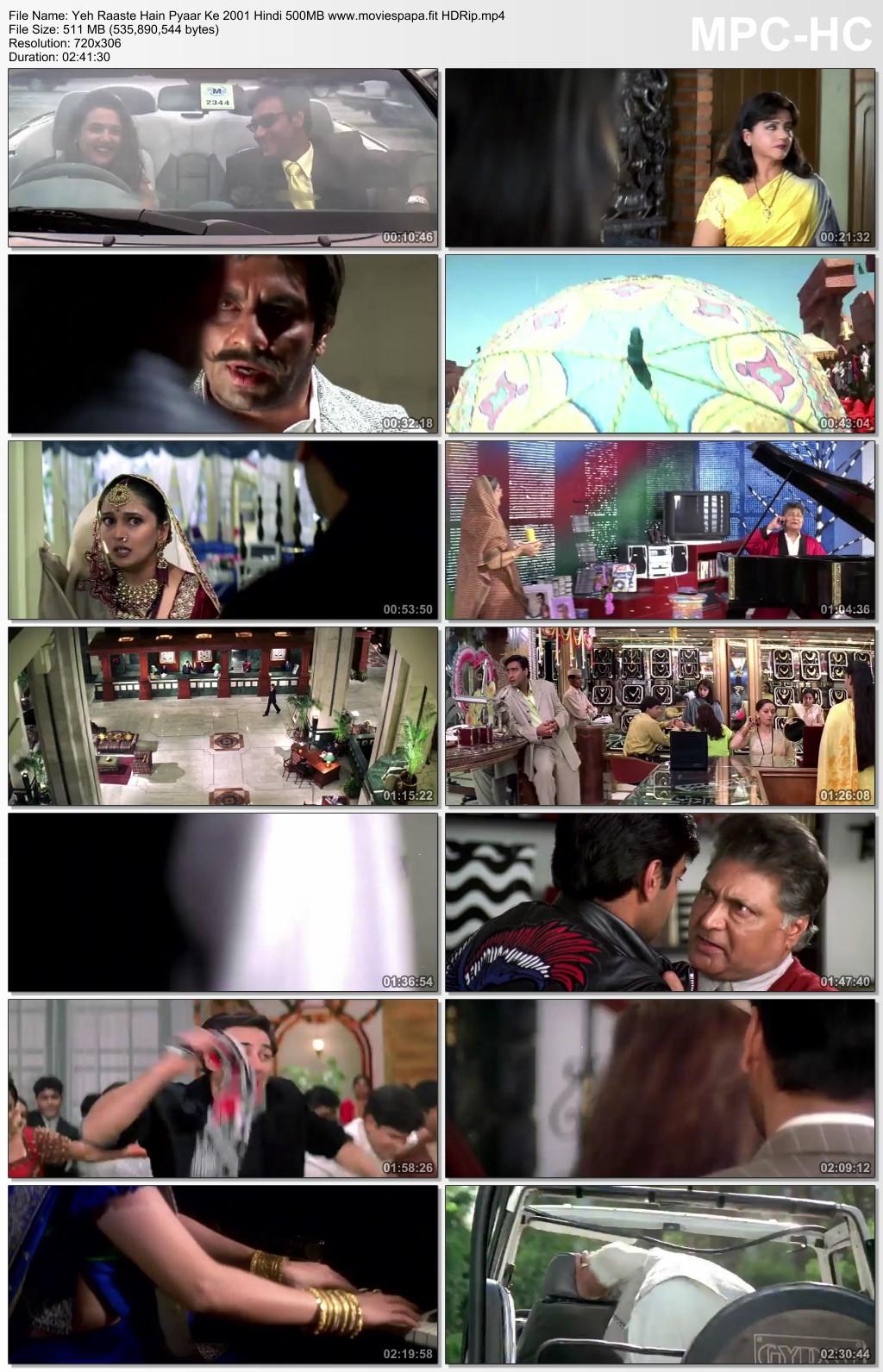 Yeh Raaste Hain Pyaar Ke 2001 Hindi Movie 510MB HDRip Download