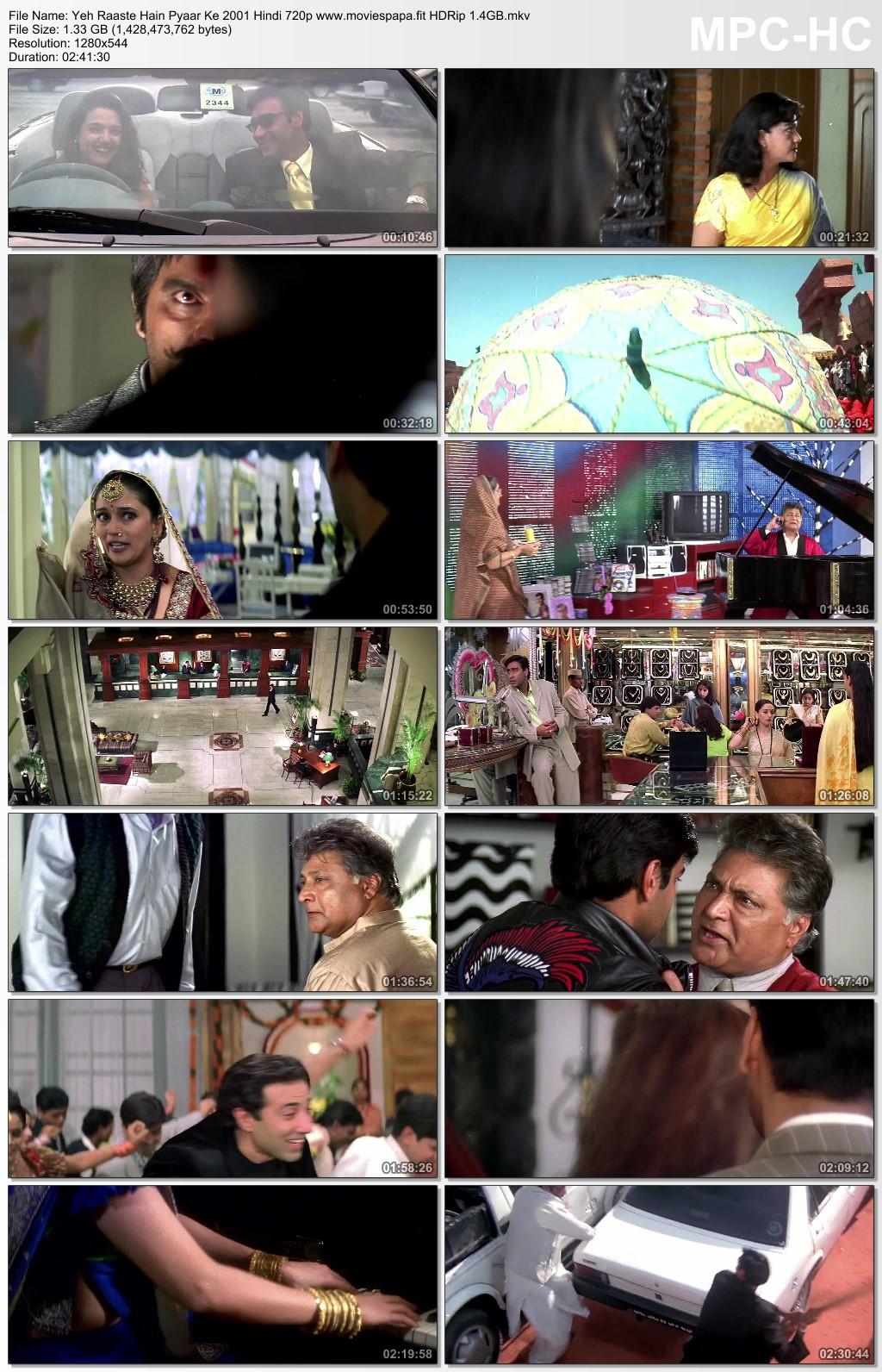 Yeh Raaste Hain Pyaar Ke 2001 Hindi Movie 720p HDRip 1.3GB Download