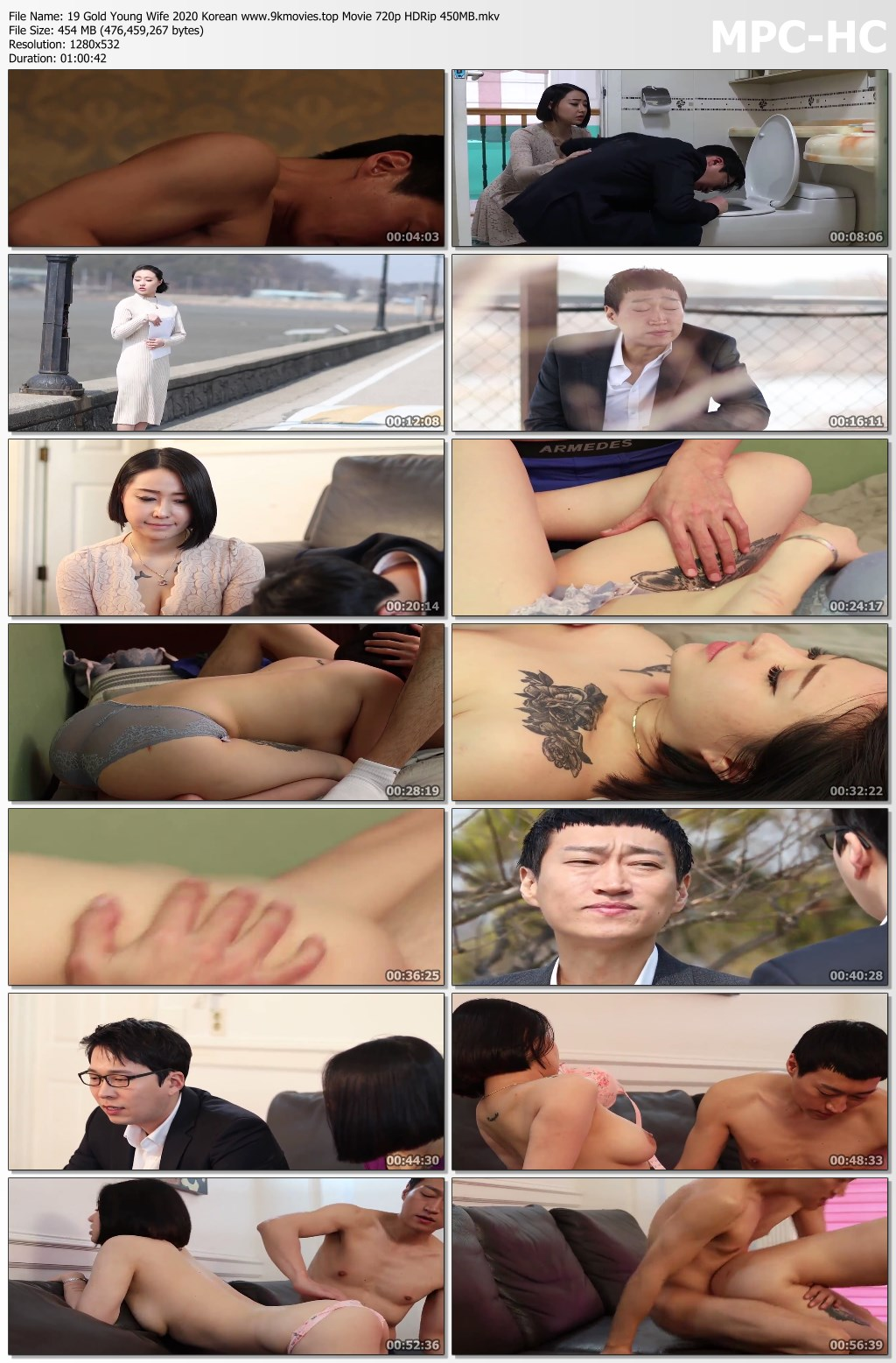 19 Gold Young Wife 2020 Korean www.9kmovies.top Movie 720p HDRip 450MB.mkv thumbs