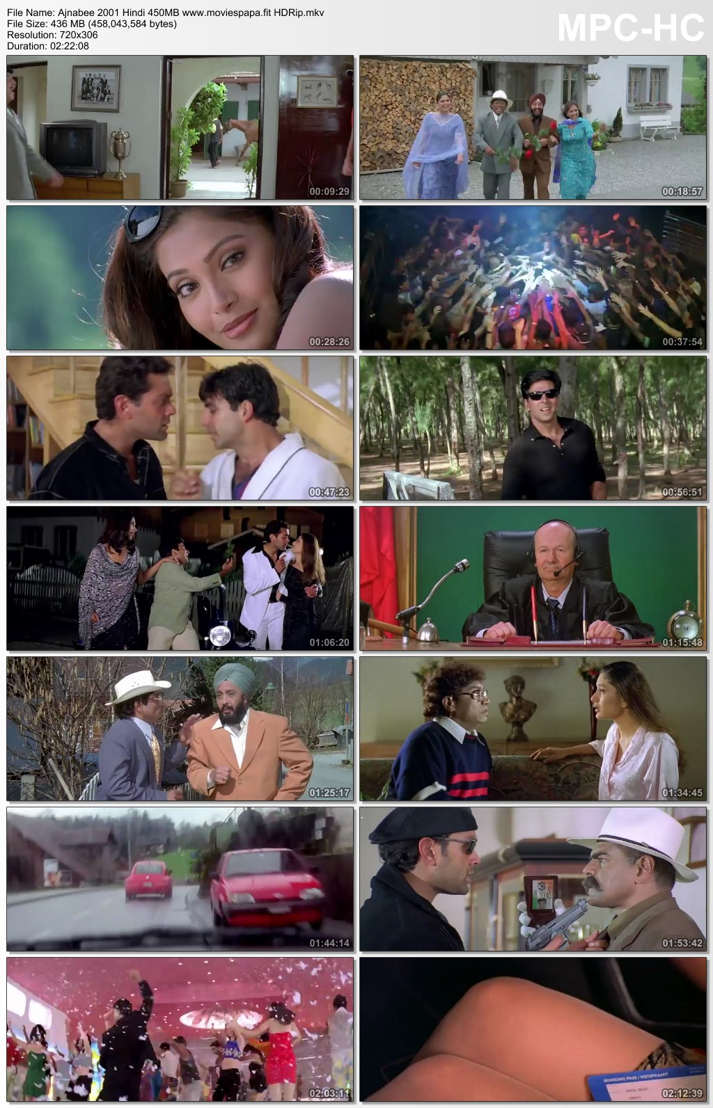 Ajnabee 2001 Hindi Movie 400MB HDRip Download