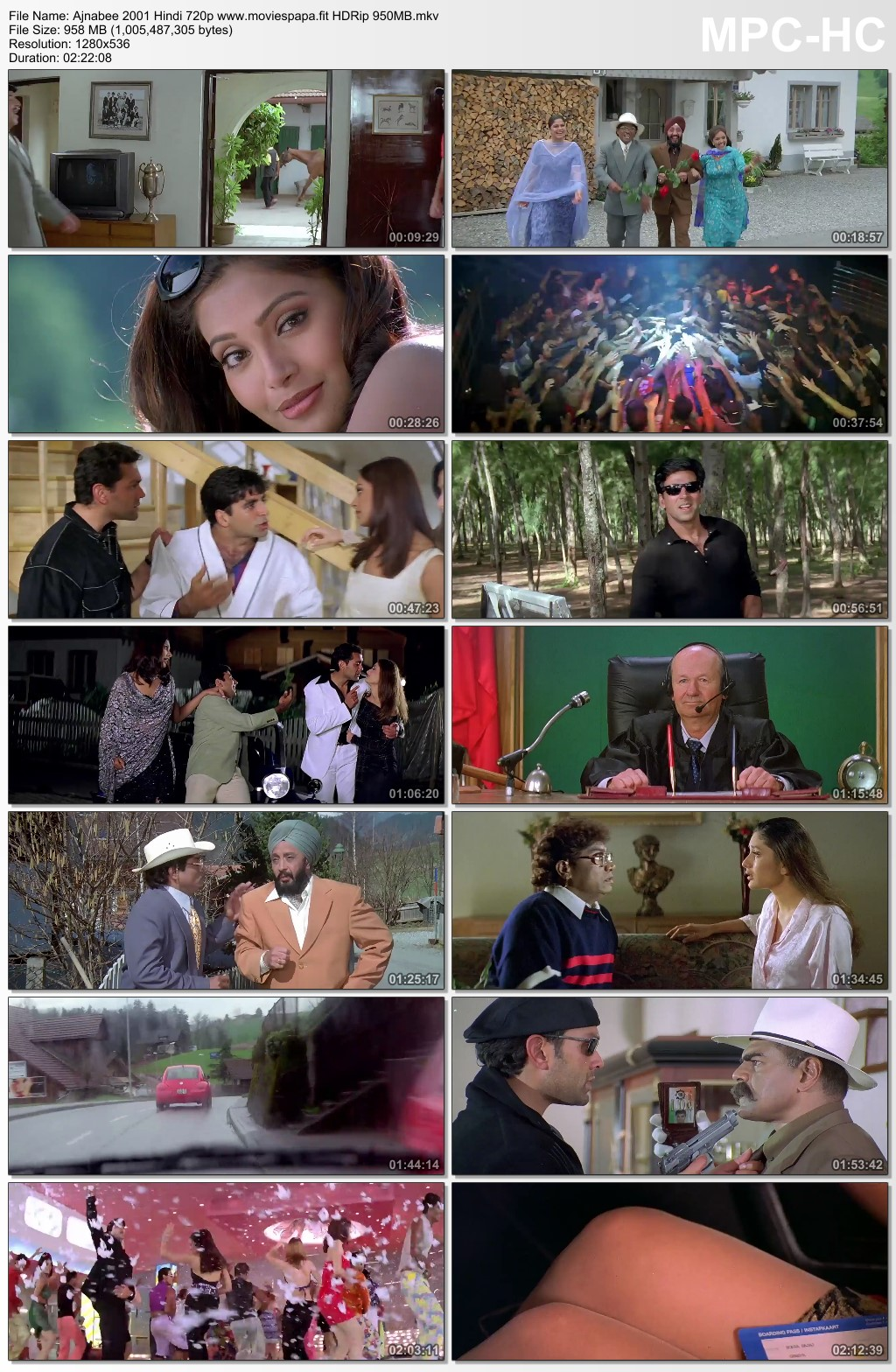 Ajnabee 2001 Hindi Movie 720p HDRip 1GB Download