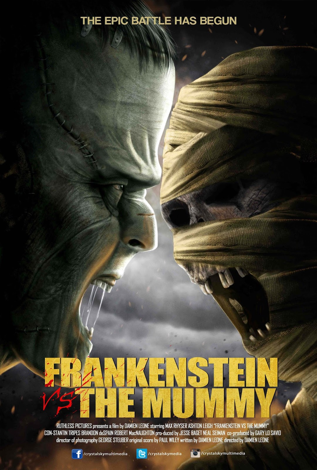 Frankenstein vs. The Mummy 2015 UNRATED Dual Audio Hindi 400MB BluRay 480p ESubs Download