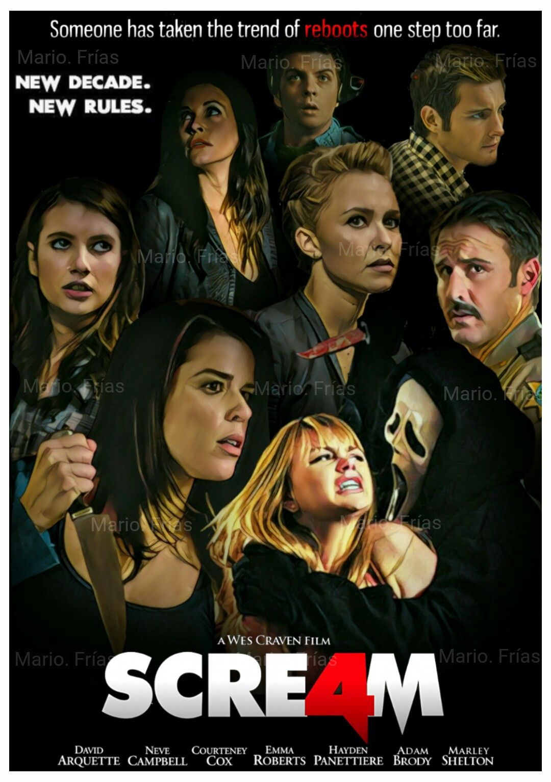 Scream 4 (2011) Dual Audio Hindi ORG 400MB BluRay 480p ESubs Download