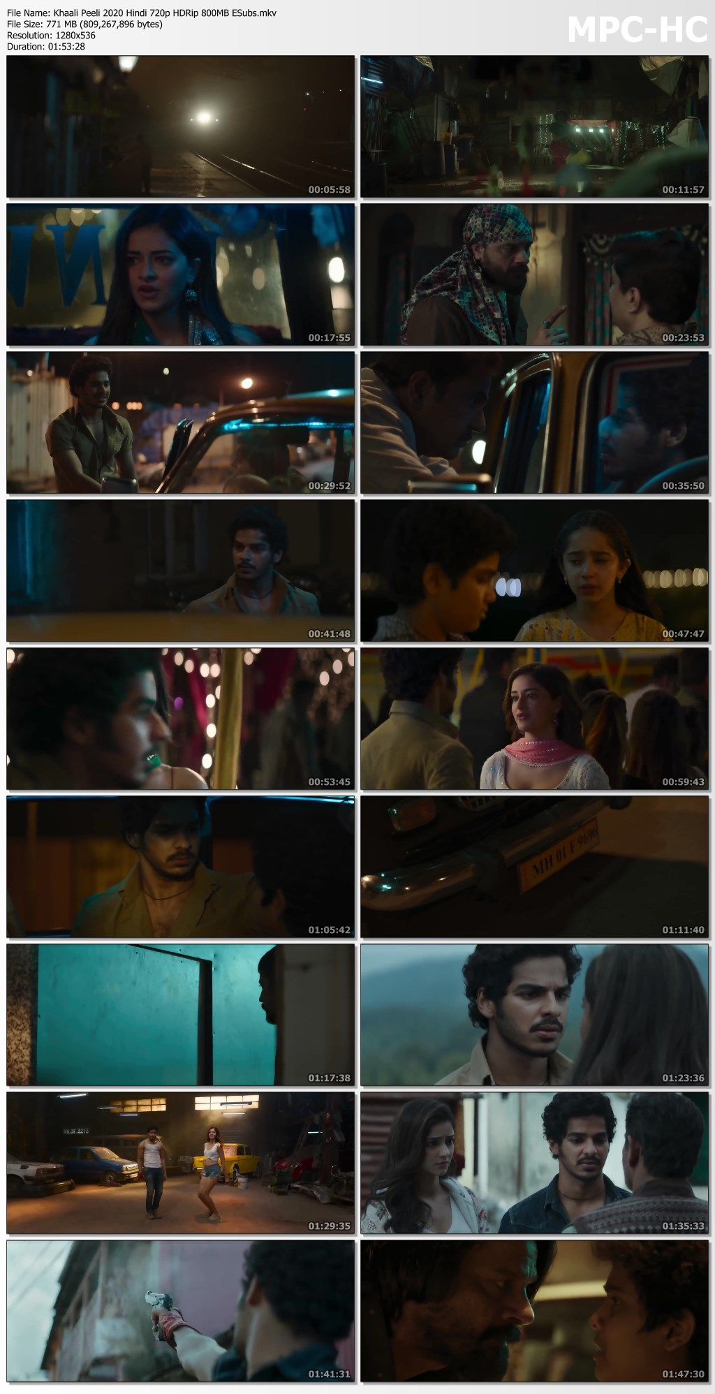 Khaali Peeli 2020 Hindi 720p HDRip 800MB ESubs.mkv thumbs