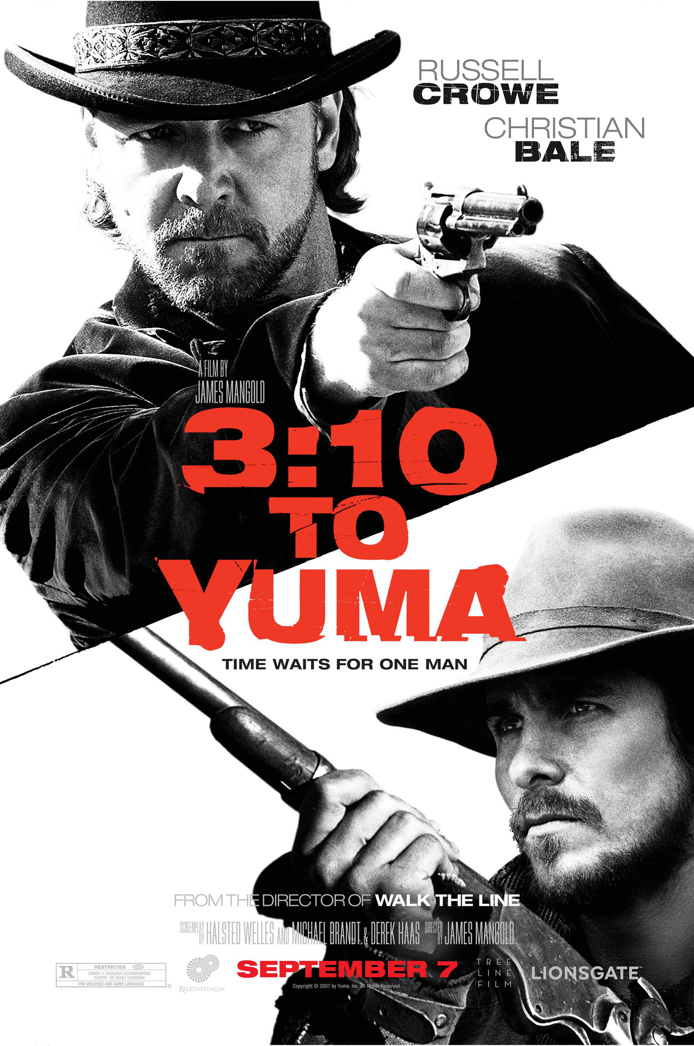 3:10 to Yuma 2007 Dual Audio Hindi 400MB BluRay Download