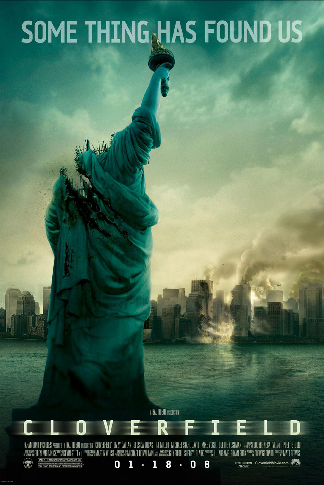 Cloverfield 2008 Hindi Dual Audio 315MB BluRay ESubs Download