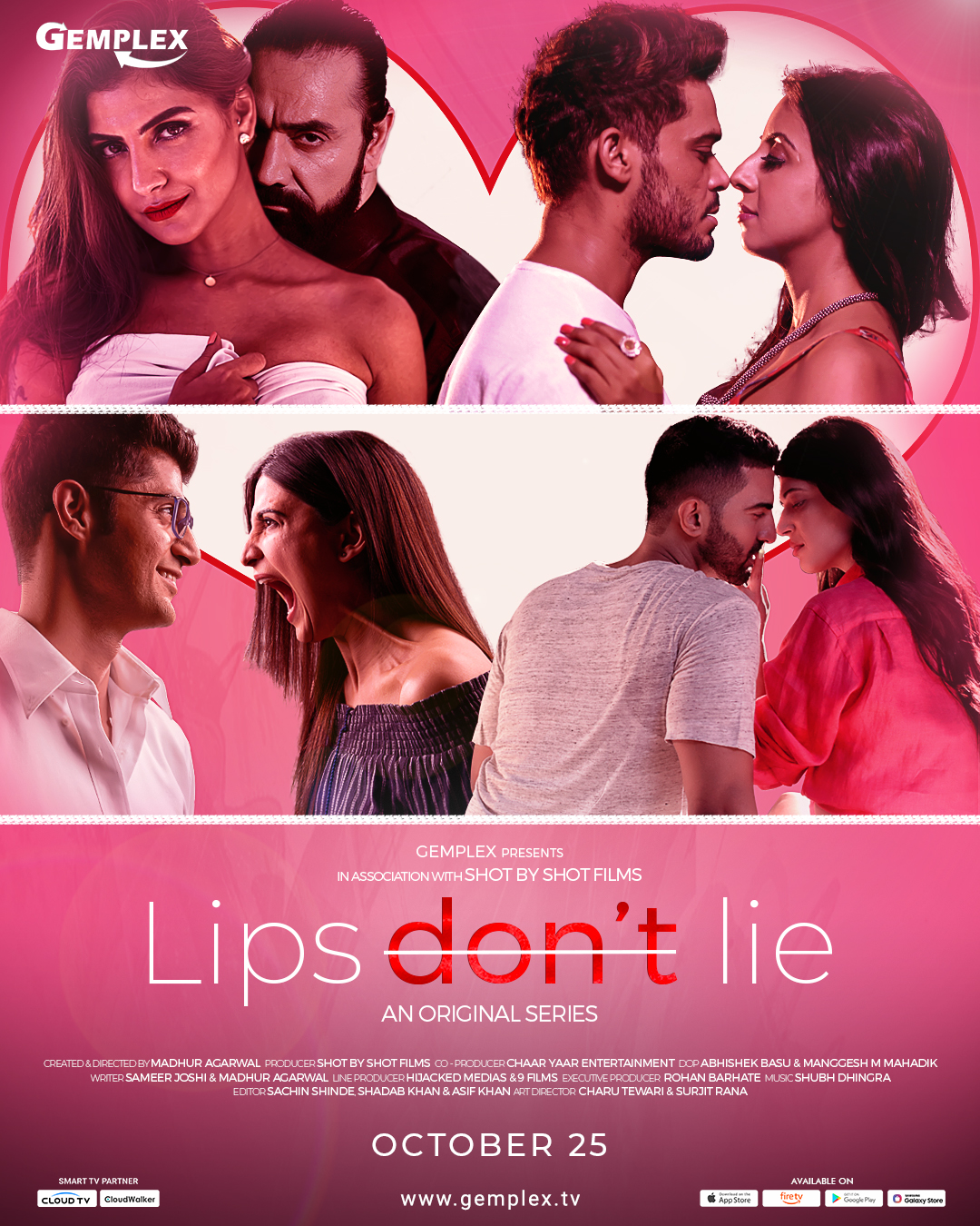 18+ Lips Don't Lie 2020 S01 Hindi Complete Gemplex Original Web Series 720p HDRip 1GB x264 AAC