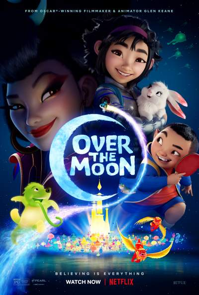 Over the Moon 2020 Hindi ORG Dual Audio 350MB NF HDRip ESubs Download