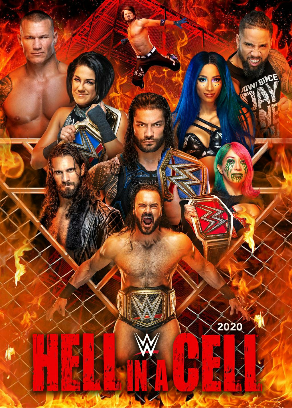 WWE Hell In A Cell 2020 English Kickoff PPV 720p HDRip 1.2GB | 562MB Download