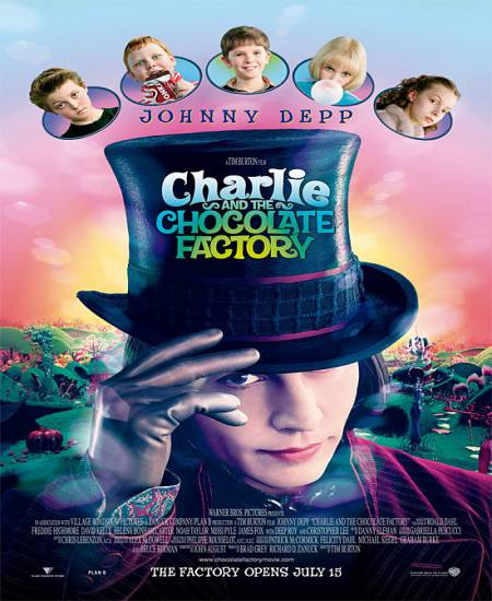 Charlie and the Chocolate Factory 2005 Dual Audio Hindi 720p BluRay ESubs 850MB Download