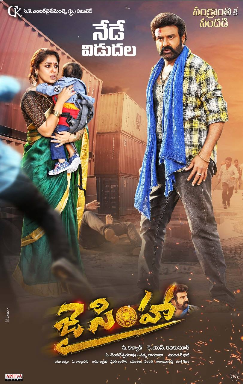 Jai Simha 2018 Dual Audio 720p UNCUT HDRip [Hindi ORG + Telugu] ESubs Free Download