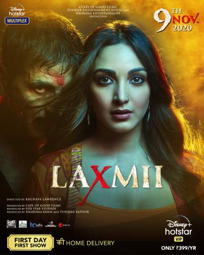 Laxmii 2020 Hindi Movie 480p HDRip ESubs 400MB Download