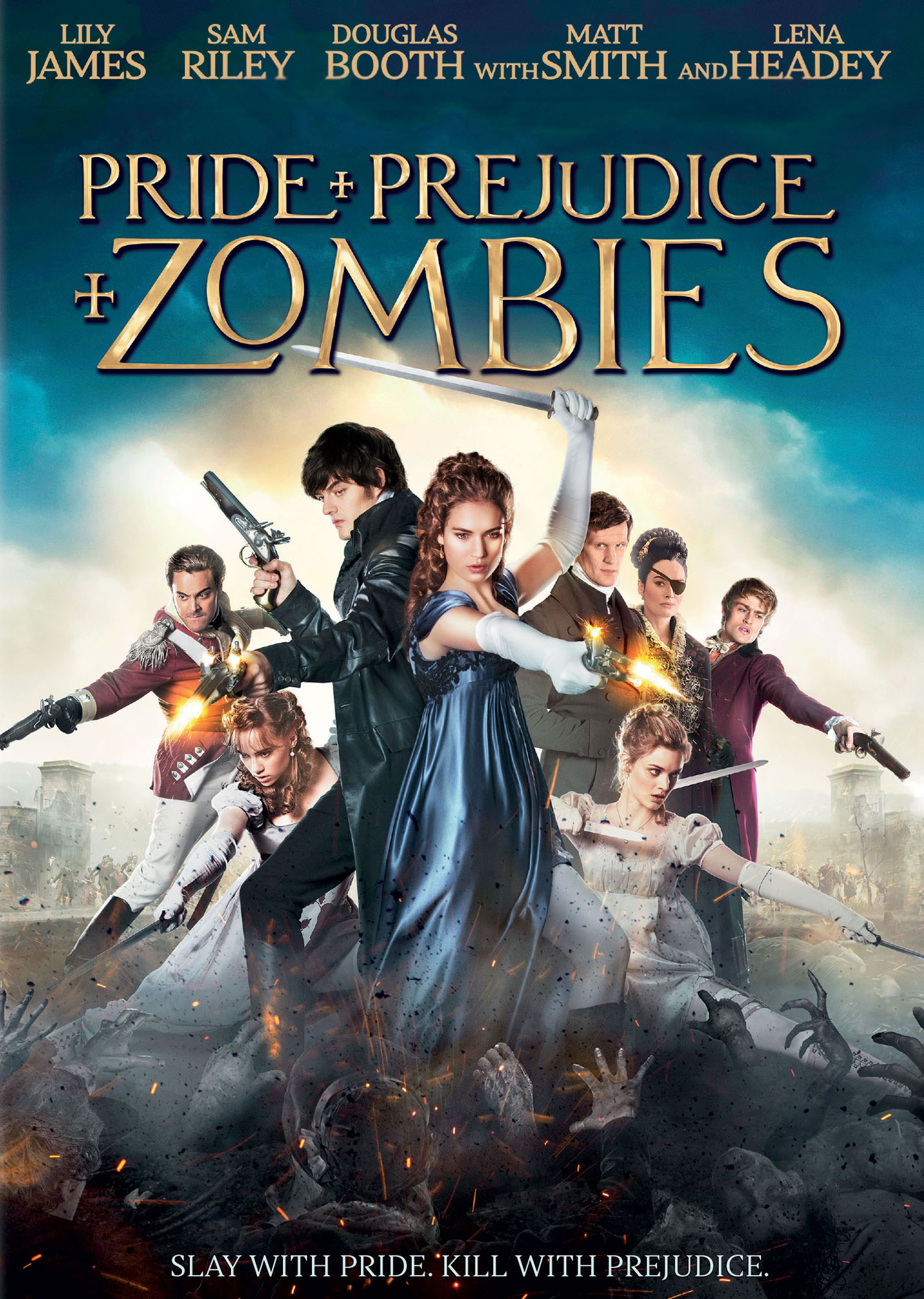 Pride and Prejudice and Zombies 2016 Dual Audio Hindi ORG 550MB BluRay 720p HEVC x265 ESubs