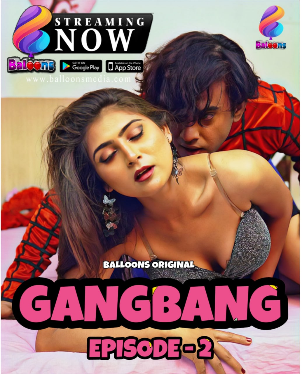 Gang Bang 2020 Hindi S01E02 Balloons Web Series 720p HDRip 350MB x264