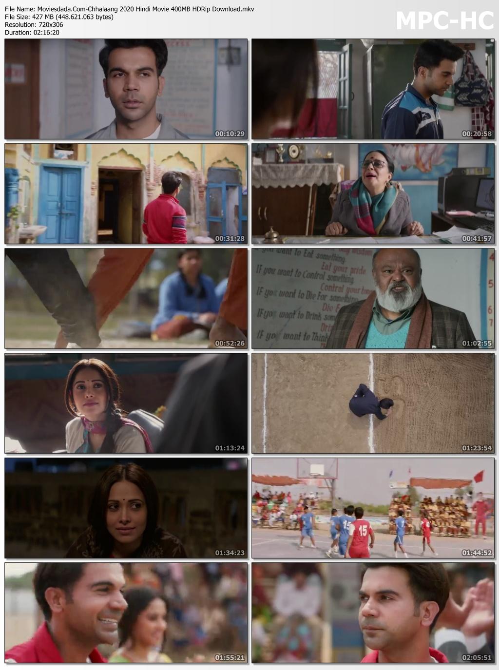 Moviesdada.Com Chhalaang 2020 Hindi Movie 400MB HDRip Download.mkv thumbs