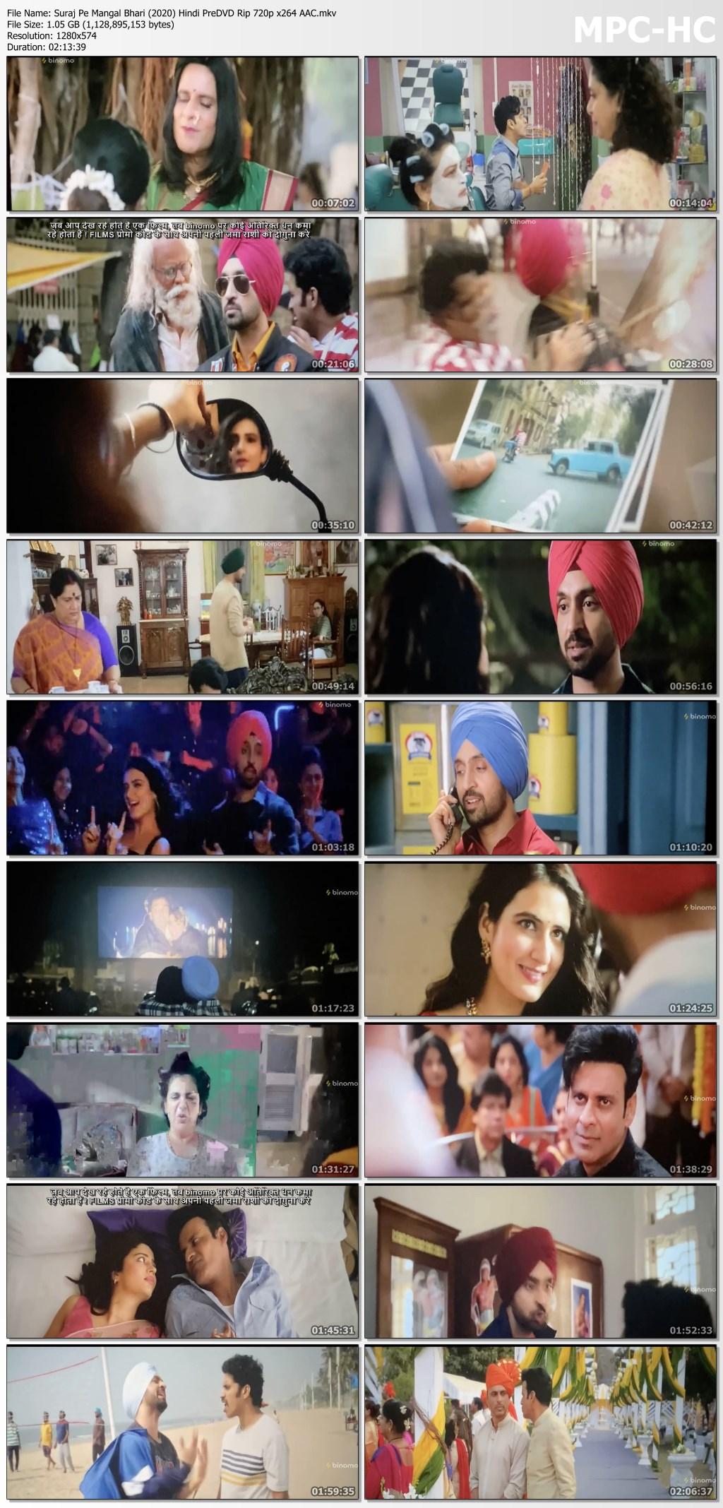 Suraj Pe Mangal Bhari (2020) Hindi PreDVD Rip 720p x264 AAC.mkv thumbs
